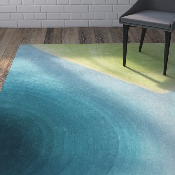 Gentner Bring the Peacefulness of Nature Hand-Woven Green Area Rug by Brayden Studio