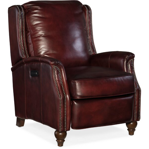 Bran Leather Power Recliner by Hooker Furniture