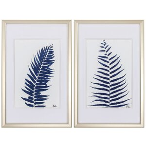 Ferns 2 Piece Framed Painting Print Set by Propac Images