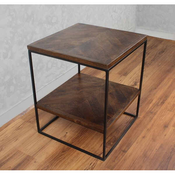 Sharell Mango Parquet End Table by 17 Stories