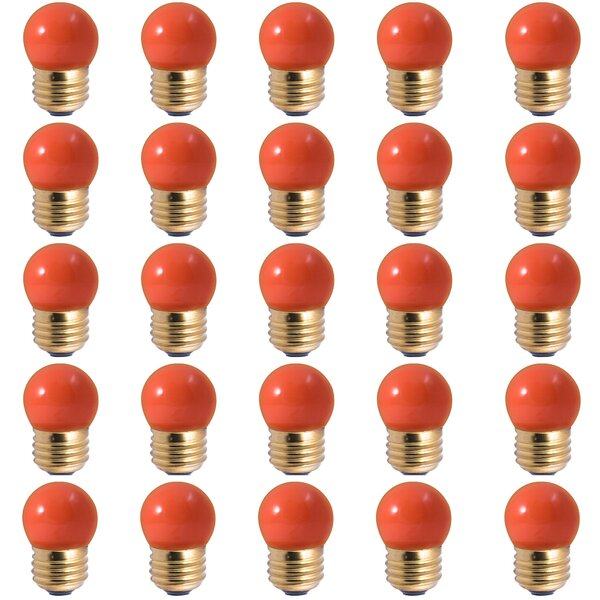 7.5W E26 Dimmable Incandescent Light Bulb Orange (Set of 25) by Bulbrite Industries
