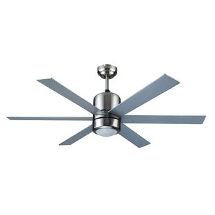 Read Reviews 48 Asaro 6 Blade Ceiling Fan with Remote By Ivy Bronx
