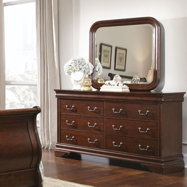 Raina 6 Drawer Double Dresser with Mirror by Alcott Hill
