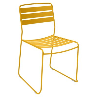 Surprising Stacking Patio Dining Chair Fermob Color: Honey
