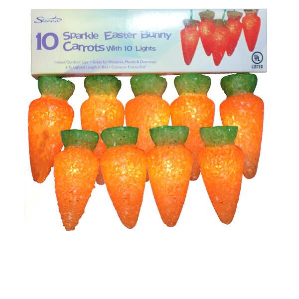 Lighted Sparkle Carrot 10 Light String Lights by Sienna