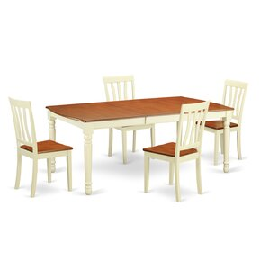 Dover 5 Piece Dining Set by Wooden Importers