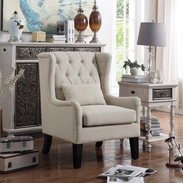 Jeramiah Wingback Chair by Alcott Hill