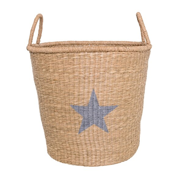 Heritage Pines Seagrass Basket with Handles by Beachcrest Home