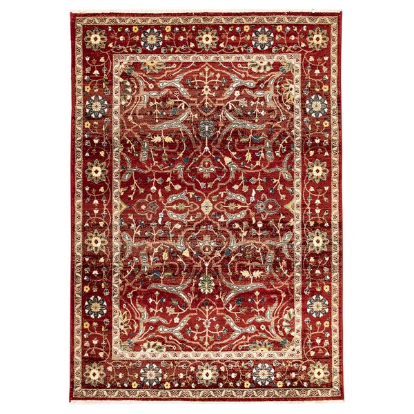 Osblek Oushak Red Area Rug by Charlton Home