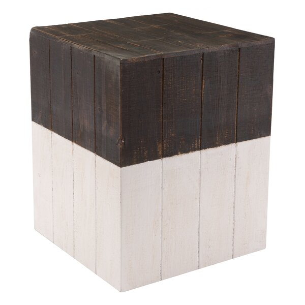 Abbey Wooden Square Accent Stool by Foundry Select