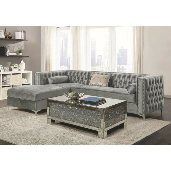 Cool Trendy Holsworthy Sectional by Everly Quinn by Everly Quinn