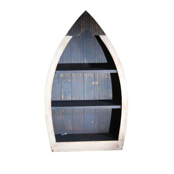 Cristina Wood Boat 3 Tier Wall Shelf by Longshore Tides