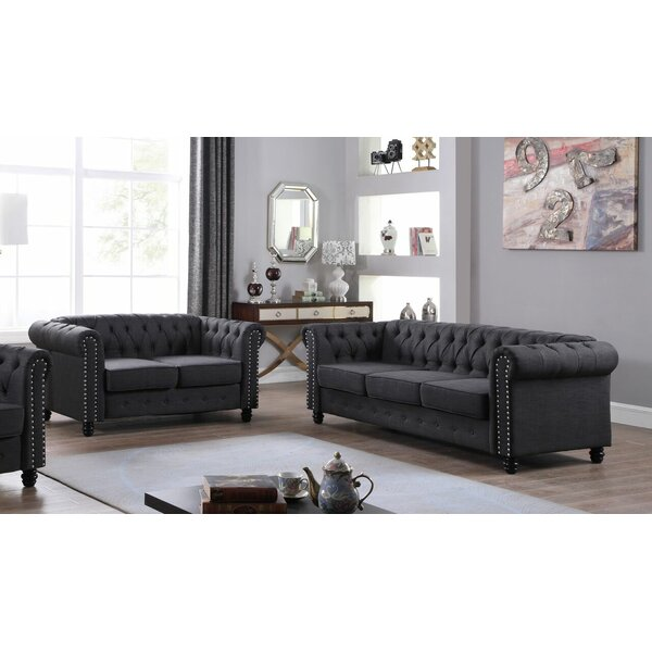 Hubert 2 Piece Living Room Set by Alcott Hill