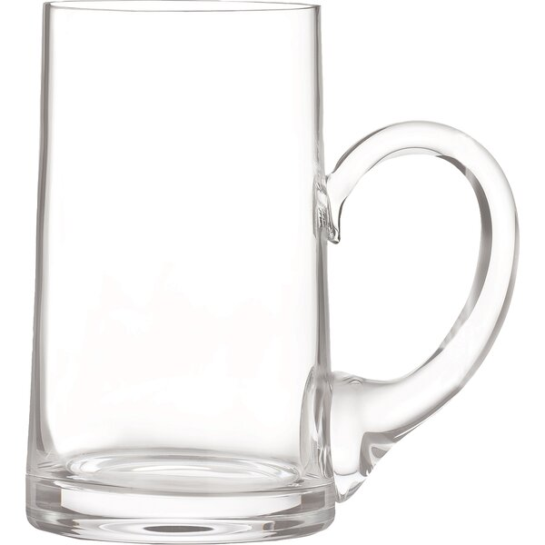 Elegance Beer Mug 24 oz. Crystal Pint Glass (Set o