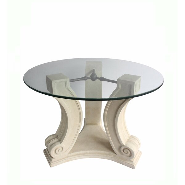 Glyndon Glass Dining Table by Fleur De Lis Living