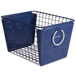 Best Reviews Nautical Metal Basket ByBeachcrest Home