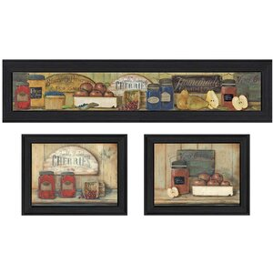'Kitchen' 3 Piece Framed Textual Art Set by Trendy Decor 4U