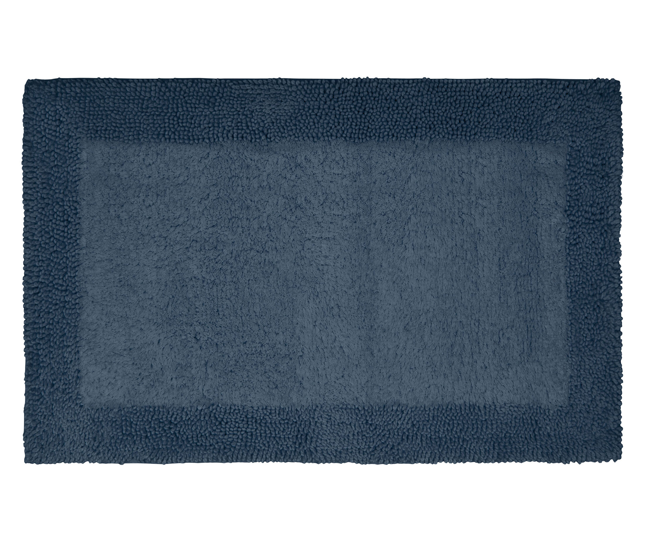 French Connection Gail Border Loop Cotton Bath Rug
