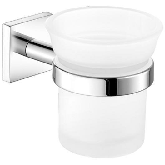 Sosa Wall Frosted Glass Toothbrush Holder by Orren Ellis