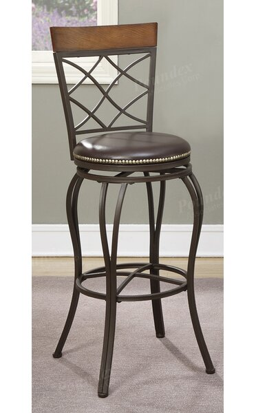 Timmons 29 Swivel Bar Stool (Set of 2) by Fleur De Lis Living