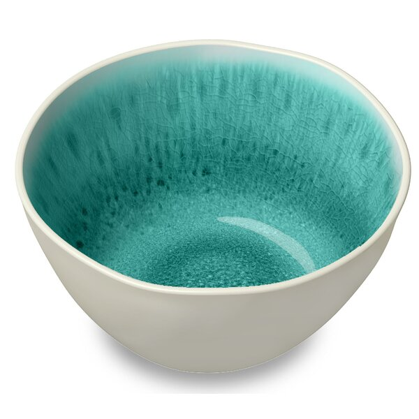 Deanery 13.5 oz. Glaze Salad Bowl (Set of 6) by Mistana