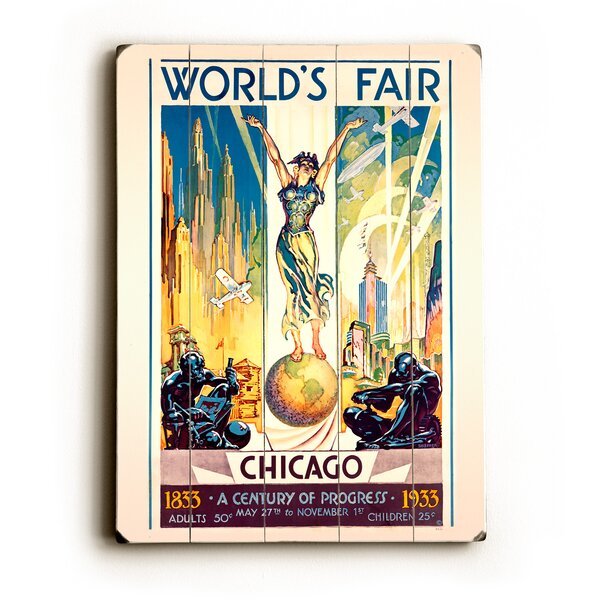 Worlds Fair Graphic Art Print Multi-Piece Image on Wood by Artehouse LLC