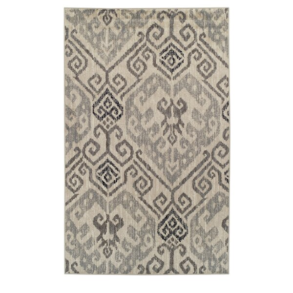 Callicoon Damask Oriental Beige Area Rug by Charlton Home