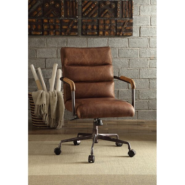 Viggo High-Back Leather Executive Chair by 17 Stories
