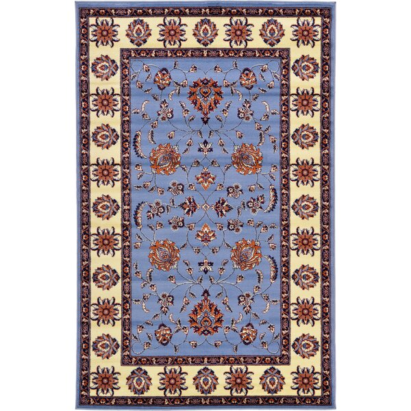 Fairmount Blue Area Rug by Three Posts