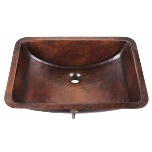 Read Reviews Curie Metal Rectangular Undermount Bathroom Sink with Overflow By Sinkology