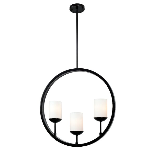 Gerardo Eclipse 3-Light Shaded Chandelier by Wildon Home ®