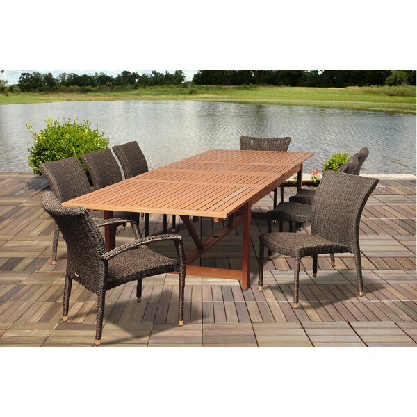 Beckworth 9 Piece Dining Set by Rosecliff Heights