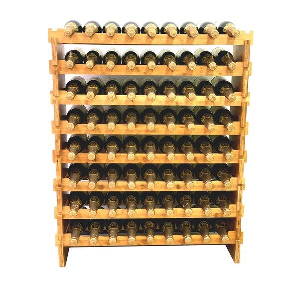 Apollonia 72 Bottle Floor Wine Bottle Rack By Rebrilliant