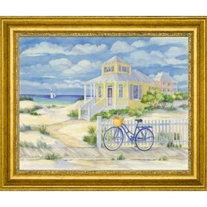 'Beach Cruiser Cottage II' by Paul Brent Framed Painting Print by Canvas Art USA
