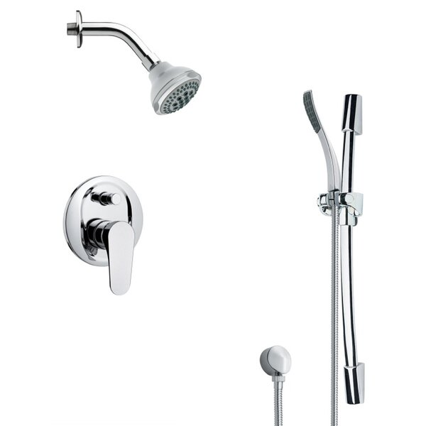 Rendino Pressure Balanced Complete Shower System With Rough-in Valve By Remer By Nameek's