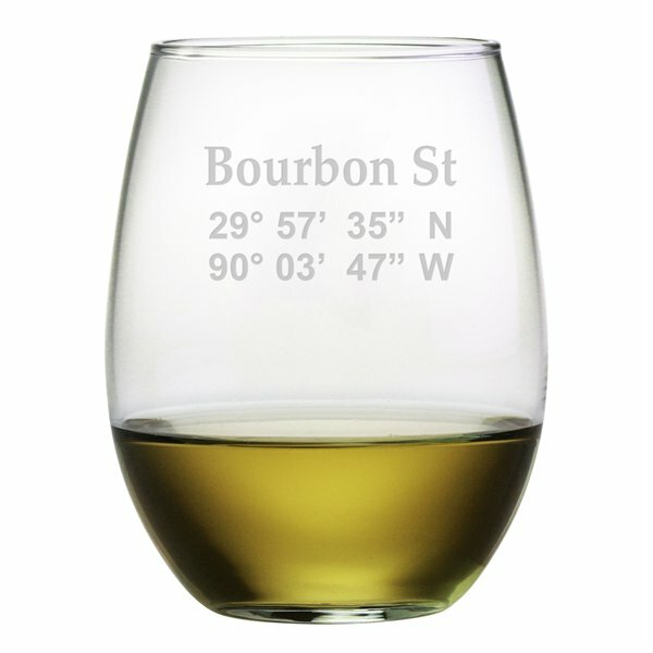 Bourbon Street 21 oz. Stemless Wine Glass (Set of 4) by Susquehanna Glass