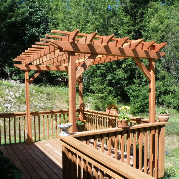 Solid Wood Pergola by Best Redwood