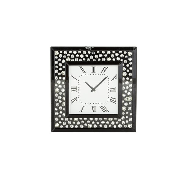 Farrington Gurney Modern Square Wood Polka Dot Analog Wall Clock by Orren Ellis
