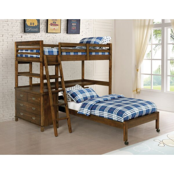 Killebrew Twin Standard Bed with Lockable Casters by Harriet Bee