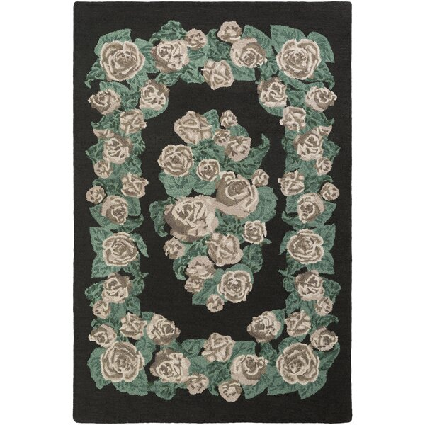Lackey Hand-Tufted Green Area Rug by House of Hampton