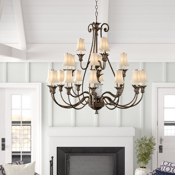 21-Light Shaded Empire Chandelier by Dovecove Dovecove