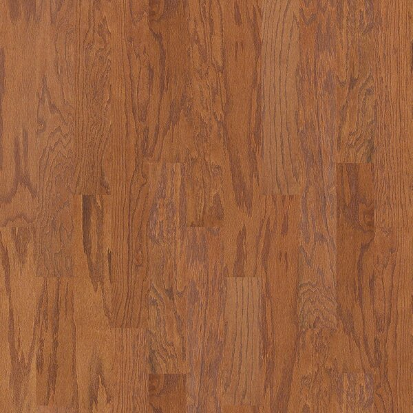 Prestige Oak 4.8 Engineered  Oak Hardwood Flooring in Saddle by Shaw Floors
