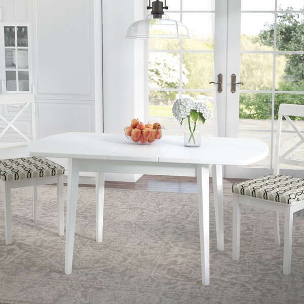 Pico Extendable Solid Wood Dining Table by Alcott Hill