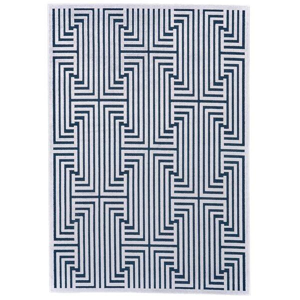 Drew Blue/White Area Rug by Corrigan Studio