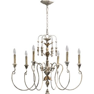 French country chandeliers youll love wayfair paladino 6 light candle style chandelier audiocablefo