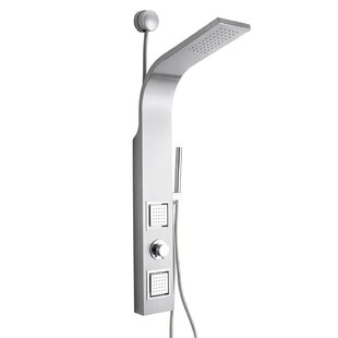Dual Shower Head Shower Panel - Includes Rough-In Valve ByAKDY