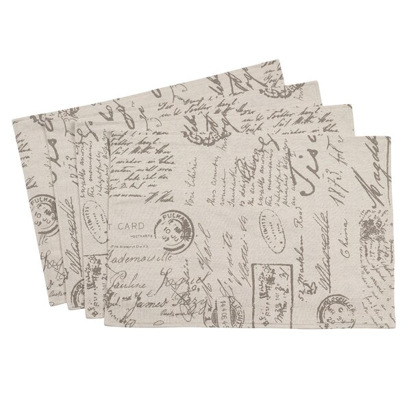 Noren Old Fashioned Script Placemat (Set of 4) by One Allium Way