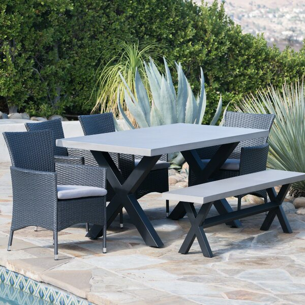 Durazo Outdoor 6 Piece Dining Set with Cushions by Red Barrel Studio
