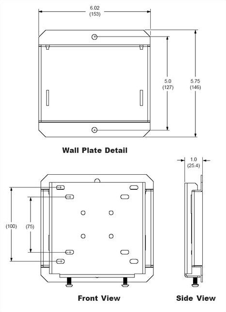 "Smart Mount Fixed Universal Wall Mount for 10""- 29"" LCD"