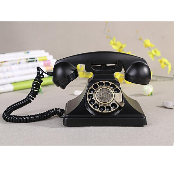 Rotary Dial Desk Home and Office Telephone by LNC Home